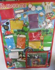 "Mickey Mouse Wall Panel ""All About Me"" Pre-schooler memory board. 70cm by 96cm."