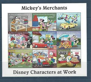 SAINT VINCENT - 2247; 2248a - 2253a - MNH - 1996 - DISNEY CHARACTERS AT WORK
