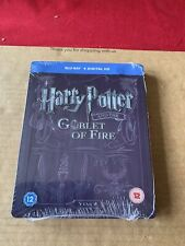 Harry Potter And The Goblet Of Fire Rare UK Blu Ray Steelbook NEW & SEALED