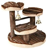 Trixie Natural Living Climbing Frame Toy 2 Bells for Hamsters, Mice 14x14cm Wood