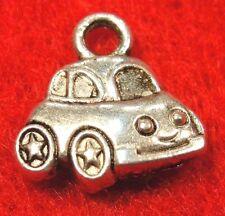 50Pcs. WHOLESALE Tibetan Silver CAR 2-Sided VW Charms Pendants Ear Drops Q0045