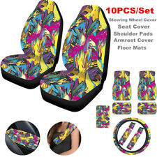 Car Seat Cover+Steering Wheel Cover+Seat Belt Armrest Pad Floor Mats & Carpets