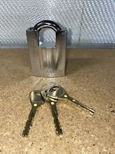 ABLOY PL342 Steel Padlock with Raised Shoulders with 3 Keys Shrouded