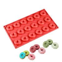 18 Bandejas Model de silicona hornear rosquillas galleta recipiente torta