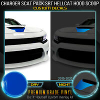 For 2015-2020 Charger Scat Pack Hellcat SRT Hood Scoop Vinyl Decal - Reflective