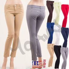 Women's Casual Skinny Jeans Pencil Zipper Slim Cotton Jeggings Pants//RUNS SMALL
