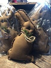 Primitive Fabric Bunny Bowl Fillers, great for spring and Easter decor