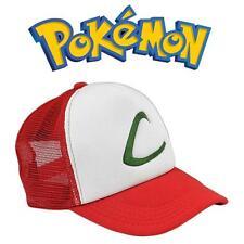 USA Pokemon Pocket Monster Ash Ketchum Baseball Trainer Cap Cosplay Hat Costume