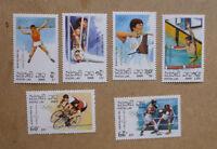 1989 LAOS OLYMPICS GAMES BARCELONA '92 SET OF 6 STAMPS MNH