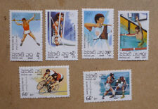1989 LAOS OLYMPICS GAMES BARCELONA '92 SET OF 6 STAMPS MNH