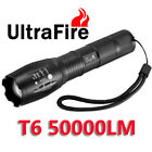 Ultrafire 50000LM 5 Modes T6 18650 LED Flashlight Zoomable Military Torch Lamp