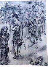 Marc Chagall offset lithograph Bible  paris maeght 1960 original  2 sided 110
