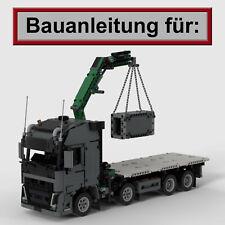 Bauanleitung für Lego Technic LKW mit Kran im Stile Volvo FH (nur aus Set 42078)