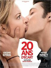 Affiche 40x60cm 20 ANS D'ÉCART (2013) Virginie Efira, Pierre Niney TBE