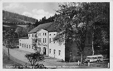 Siegelhof Erzg. Sachsen Gasthof , Omnibuss Echte Fotokarte
