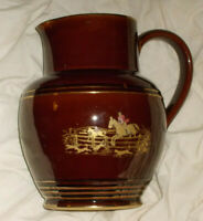 DENBY HUNTING JUG APPROX 7 1/2 INCHES TALL