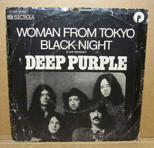 "DEEP PURPLE - WOMAN FROM TOKYO / BLACK NIGHT - 7"" VINYL SINGLE - GERMANY 1973"