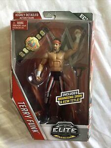 WWE Elite 41 Flashback Terry Funk  New  Mattel