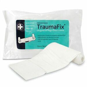 Workplace TraumaFix Advanced Trauma Bandage Dressing with Pressure Pad,15cmx18cm