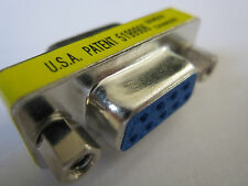DB9 9 Pin F/F Female to Female Mini Gender Changer Converter Adapter RS232