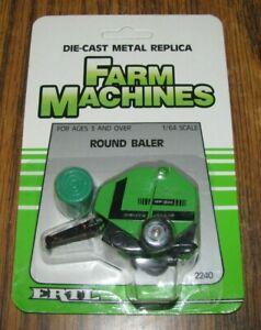 *Deutz Allis GP2.50 Round Baler & Bale Ertl Farm Machines Toy 2240 DieCast Metal