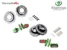 Defender 90 PUMA performance wavy brake kit defender drilled + grooved brake kit