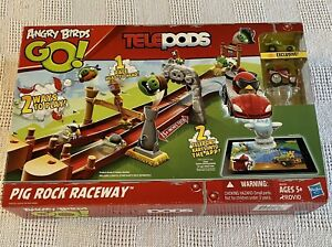 Angry Birds Go! TelePods Pig Rock Raceway by Hasbro, New in Open Box Toy