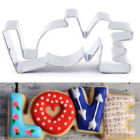 Stainless Steel LOVE Shape Biscuit Cutter Jelly Cookie Party Fondant Cake Mold