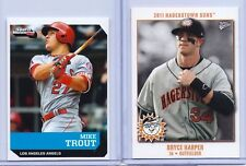 """MIKE TROUT & BRYCE HARPER 2011/2016 SPORTS ILLUSTRATED """"2"""" CARD ROOKIE LOT!"""