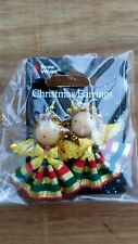 Christmas earrings for pierced ears ANGELS with Gold Halo's and Wings. Party fun