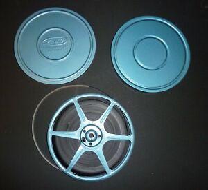 "VINTAGE 6"" 8mm AMC MOVIE REEL WITH CAN & FILM"