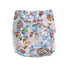 Newborn Baby Reusable Alva Cloth Diapers Cover Funny icecream TPU Pocket Nappy