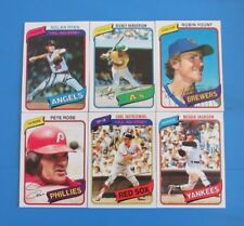 "1980 Topps Baseball Card ""High Grade"" Complete Set STUNNING!"