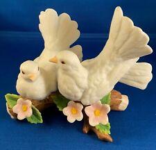 "Homco (Home Interiors) Porcelain Figurine ""Courtship Doves"" Item #1453"