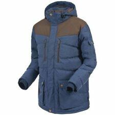Mens Winter Coat Jacket S-XXL UK Trespass Warm Padded Denim Look Hooded Jackets
