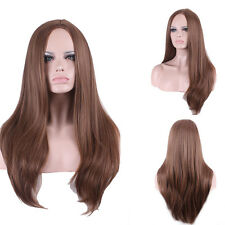 Brazilian Full&Front Lace Human Hair Wigs Natural Straight Brown Women Baby Hair