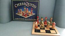 HTF Chessquito Wood Board & Pawns Sentosphere Initating Children Beginners Game