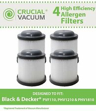 4 Black & Decker PVF110 PHV1210 Vacuum Filters 90552433 90552433-01