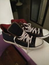CONVERSE All Stars Hightop 7D 04 05 01 Shoes Black/White/Red - Men Size 13