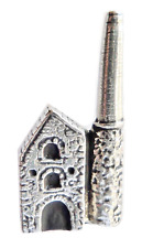 Cornish Tin Mine Engine House Pewter Pin Badge - Hand Made in Cornwall