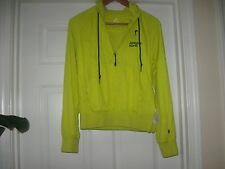 """NIKE"""" Women's Athletic North Hooded half Zip Up Neon Yellow Jacket Size S(4-6)"""