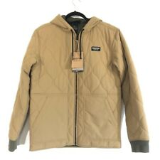 NEW Burton Mens Mallet Quilted Jacket Tan Pockets Hooded M Lifetime Warranty