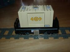 Lego Train Cargo Flat Container Car Custom City Track 9V RC My Own 60098 60052