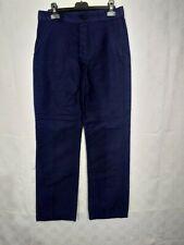 ancien pantalon de travail moleskine bleue / C15