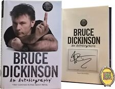 Signed Book - What Does This Button Do? by Bruce Dickinson