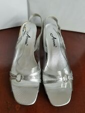 Annie Silver & Rhinestone Cinderella Shoes~ Women's Size 8.5M ~ Style 362-89