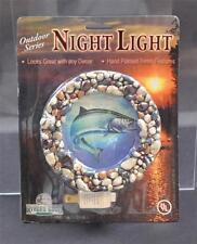Vintage Rivers Edge Outdoor Series Night Light Fish River Rock Hand Paint 3D P19