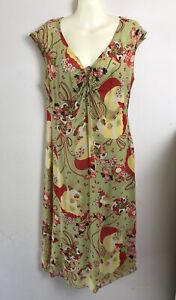 *DFSS* Lisa Ho Size 14 Vintage 90s Y2K Japanese Print Pure Silk Dress