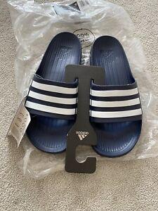 Bnwt Mens Brand New Adidas Sliders Sandals Blue Navy - Size 11 EU 46