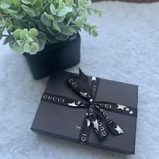 Gucci Brown Empty Paper Gift Card Boxes With Logo Ribbon